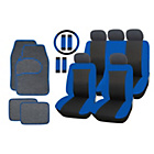 more details on Streetwize Car Seat Cover and Mat Bundle Set - Black/Blue.