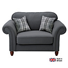 more details on Heart of House Windsor Cuddle Fabric Sofa - Charcoal.