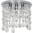 more details on Heart of House Venetia 3 Light Ceiling Fitting - Chrome.