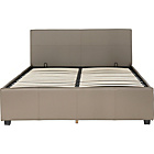 more details on Hygena Sheridan Double Ottoman Bed Frame - Latte.