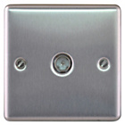 more details on Masterplug Single Co-Axial Socket - Brushed Steel.