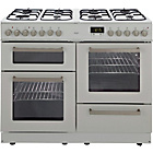 more details on Bush BCY100DFW Dual Fuel Range Cooker- White/Ins/Del/Rec.