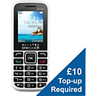 more details on O2 Alcatel 1040 Mobile Phone - White.