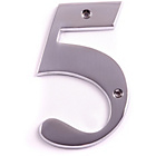more details on House Nameplate Company Chrome Plated Number Plaque - 5.