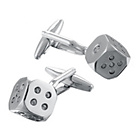 more details on Crystal Dice Cufflinks.