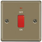 more details on Masterplug Single Cooker Light Switch - Pearl Nickel.