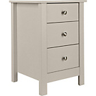 more details on Osaka 3 Drawer Bedside Chest - Putty.