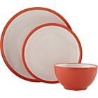 more details on ColourMatch 12 Piece Stoneware Dinner Set - Coral.