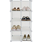 more details on 8 Interlocking Shoe Storage Boxes - White.