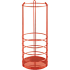 more details on Habitat Saunders Metal Umbrella Stand - Orange Red.