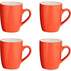 more details on ColourMatch Two Tone 4 Pack Of Mugs - Coral.