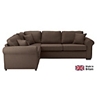 more details on Erinne Fabric Left Hand Corner Sofa Group - Chocolate.