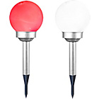 more details on GardenKraft Colour Changing Solar Ball Lights - Set of 2.
