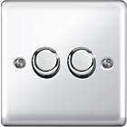 more details on Masterplug Double 2 Way Dimmer Switch - Polished Chrome.