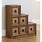 more details on Mountrose Puerto Rico 4 Drawer Stepped Unit - Dark Stain.