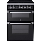 more details on Indesit ID60C2KBK Double Electric Cooker - Black.
