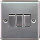 more details on Masterplug Triple 2 Way Light Switch - Brushed Steel.