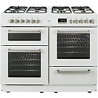 more details on Bush BCYU100DFW Dual Fuel Range Cooker - White/Ins/Del/Rec.