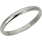 more details on 9ct White Gold D-Shape Wedding Ring.