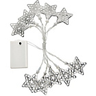 more details on 10 Filigree Star Shaped String Lights.