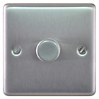 more details on Masterplug Single 2 Way Dimmer Switch - Brushed Steel.