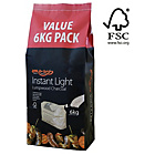 more details on Bar-Be-Quick Instant Lighting BBQ Charcoal - 6kg.