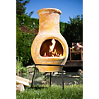 more details on La Hacienda Small Clay Chiminea.