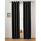 more details on Collection Twilight Blackout Unlined Curtain-168x183cm-Black