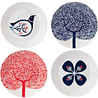 more details on Royal Doulton 22cm Set of 4 Accent Plates - Multicoloured.