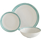 more details on ColourMatch Scratch 12 Piece Porcelain Dinner Set - Aqua.