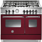 more details on Bertazzoni AD905MFEVIE Dual Fuel Range Cooker - Burgandy.