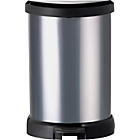 more details on Curver 20L Deco Bin - Silver.