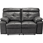 more details on HOME Cameron Regular Leather Manual Recliner Sofa - Black.