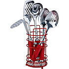 more details on ColourMatch Stainless Steel 5 Pc Kitchen Utensils Set - Red.