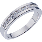 more details on Sterling Silver Cubic Zirconia Eternity Ring - Size O.