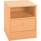 more details on New Malibu 1 Drawer Bedside Chest - Maple Effect.
