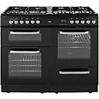 more details on Bush BCLU100DFB Double Dual Fuel Range Cooker - Black.