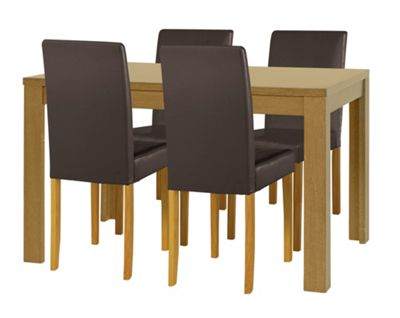 Buy HOME Penley Extendable Dining Table and 4 Chairs Oak  : 3458271RSETTMBampwid620amphei620 from argos.co.uk size 620 x 620 jpeg 24kB