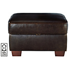 more details on Heart of House Salisbury Leather Footstool - Chocolate.