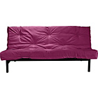 more details on ColourMatch Clive Futon Sofa Bed with Mattress - Purple Fizz