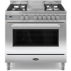 more details on Britannia RC-9SG-QL-S 90cm Dual Fuel Range Cooker - SSteel.