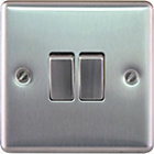more details on Masterplug Double 2 Way Light Switch - Brushed Steel.