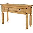 more details on Puerto Rico 1 Drawer Console Table - Solid Pine.