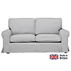 more details on Charlotte Large Fabric Sofa with Loose Cover - Grey.