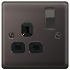 more details on Masterplug 13A Single Switched Socket - Black Nickel.