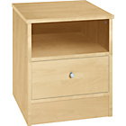more details on New Malibu 1 Drawer Bedside Chest - Beech Effect.