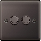 more details on Masterplug Double 2 Way Dimmer Switch - Black Nickel.