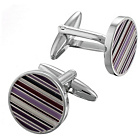 more details on Shaded Purple Stripe Cufflinks.