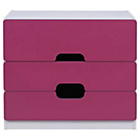 more details on Tolga 3 Drawer Chest - Pink.
