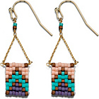 more details on Fiorelli Multi-Coloured Woven Drop Earrings.